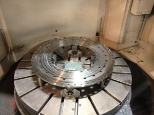 Large Vertical CNC Lathe Machining Plate